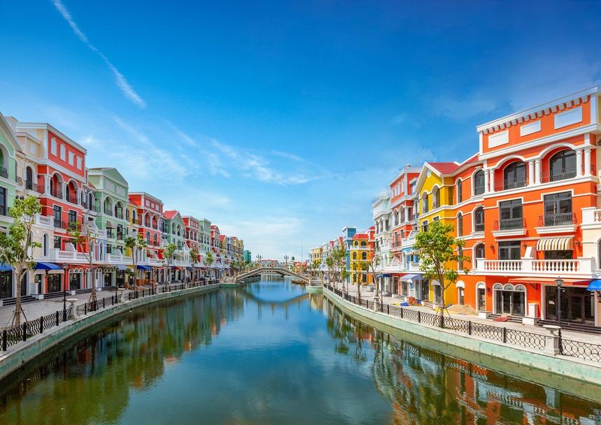 Kênh đào mô phỏng Venice tại dự án Grand World.